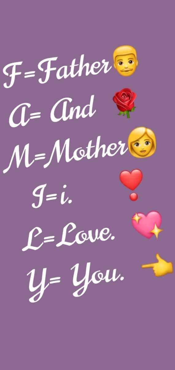 குடும்பம - F - Father A - And M = Mother J = i . O L = Love . Y - you . - ShareChat