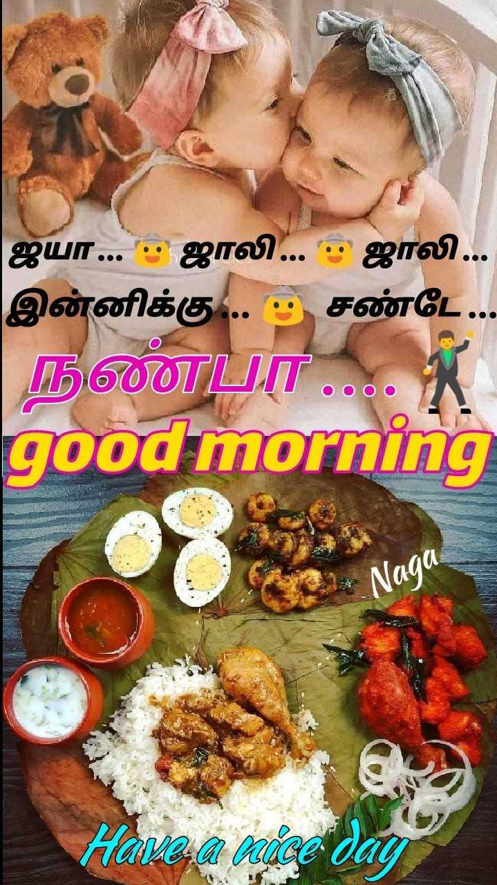 👪 குழந்தை வளர்ப்பு - ஜயா . . . . ஜாலி . . . - ஜாலி . . . இன்னிக்கு . . . த சண்டே . . நண்பா . . . . ) good morning * Naga Have a nice day - ShareChat
