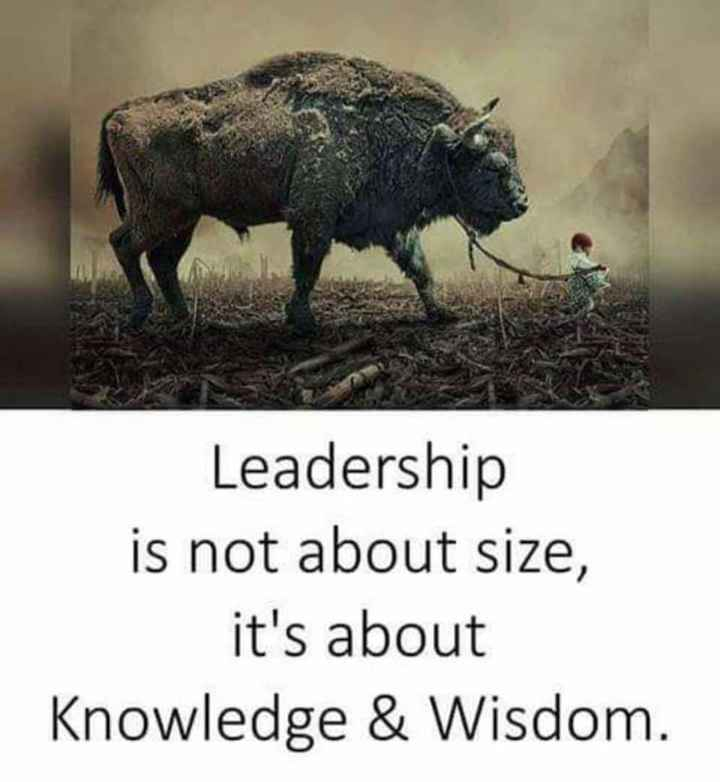 சர்க்கார் - Leadership is not about size , it ' s about Knowledge & Wisdom . - ShareChat