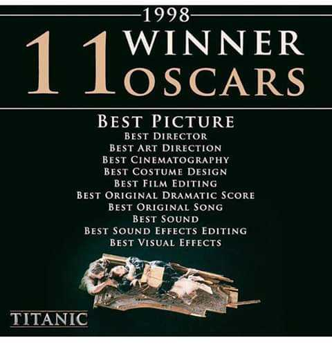 டைட்டானிக் நினைவு தினம் - - 1998 1 WINNER LOS CARS BEST PICTURE BEST DIRECTOR BEST ART DIRECTION BEST CINEMATOGRAPHY BEST COSTUME DESIGN BEST FILM EDITING BEST ORIGINAL DRAMATIC SCORE BEST ORIGINAL SONG BEST SOUND BEST SOUND EFFECTS EDITING BEST VISUAL EFFECTS TITANIC - ShareChat
