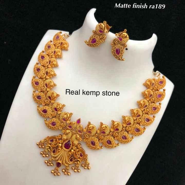 💎நகை வகை - Matte finish ra189 Real kemp stone - ShareChat