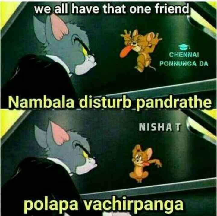 👬 பிரெண்ட்ஷிப் ஸ்டேட்டஸ் - we all have that one friend CHENNAI PONNUNGA DA Nambala disturb pandrathe NISHAT polapa vachirpanga - ShareChat
