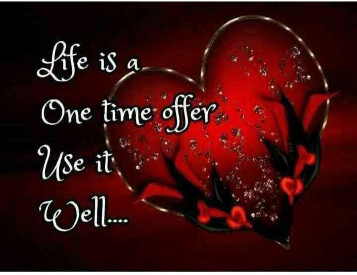 புகைப்படம் - Life is a l One time offer Use it Well . . . - ShareChat