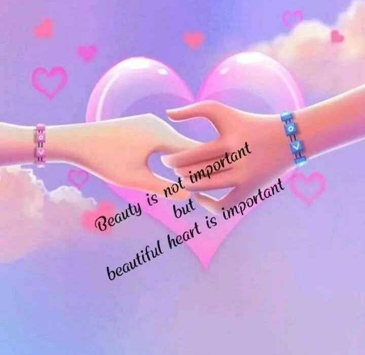 புகைப்படம் - but Beauty is not important beautiful heart is important - ShareChat