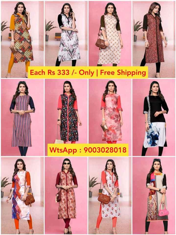 👗பெண்கள் ஃபேஷன் - Each Rs 333 / - Only | Free Shipping WtsApp : 9003028018 - ShareChat