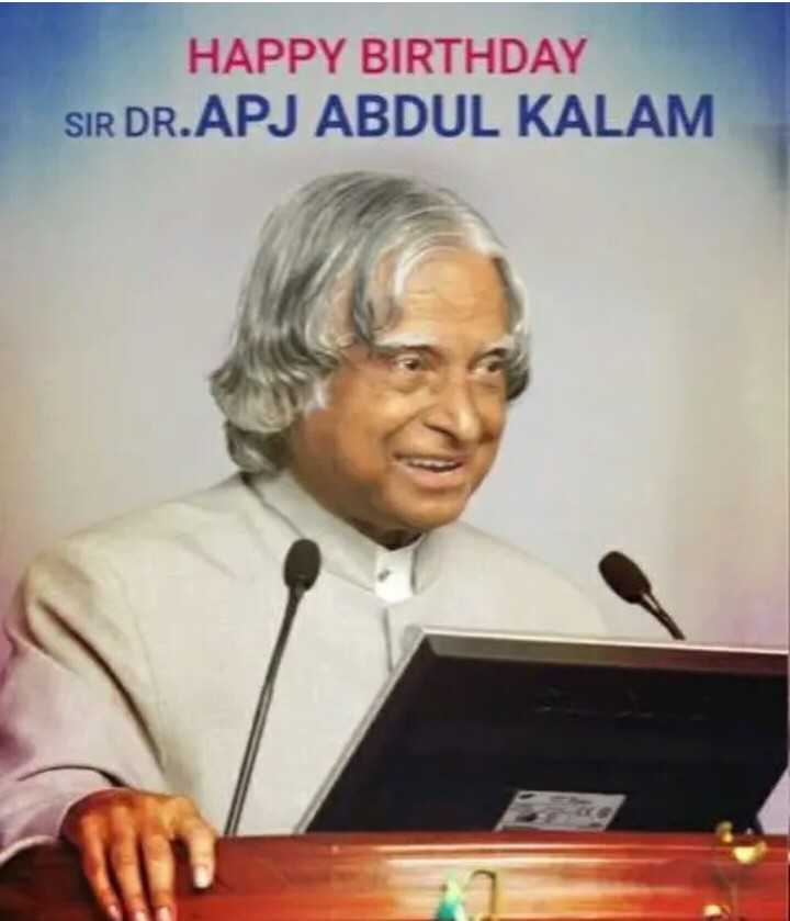 📚மாணவர்கள் தினம் - HAPPY BIRTHDAY SIR DR . APJ ABDUL KALAM - ShareChat