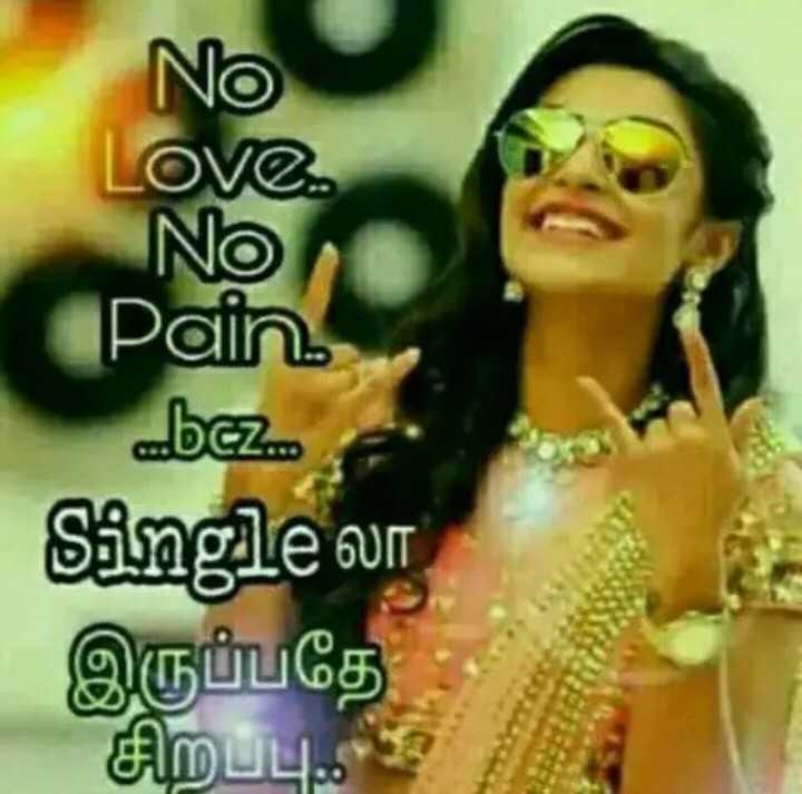 முரட்டு single - No Love . INO Pain bez . . . S5ngle லா இருப்பதே சிறப்பு . . . ? - ShareChat