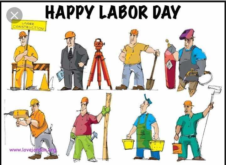 மே1 - HAPPY LABOR DAY UNDER CONSTRUCTION JEWS www . lovejordar - ShareChat