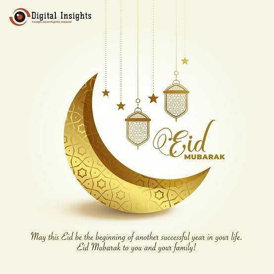 🌛ரம்ஜான் முபாரக் - Digital Insights MUBARAK May this Eid be the beginning of another successful year in your life . Eid Mubarak to you and your family ! - ShareChat