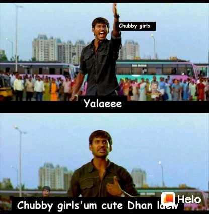 🤣 லொள்ளு - Chubby girls Yalaeee Chubby girls ' um cute Dhan lucw - ShareChat
