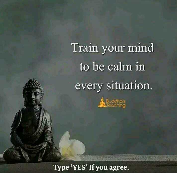 🤣 லொள்ளு - Train your mind to be calm in every situation . Budono ' s Teaching Type ' YES ' If you agree . - ShareChat