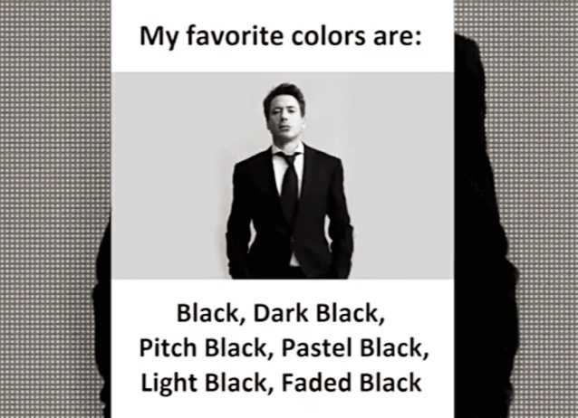 🤣 லொள்ளு - My favorite colors are : Black , Dark Black , Pitch Black , Pastel Black , Light Black , Faded Black - ShareChat