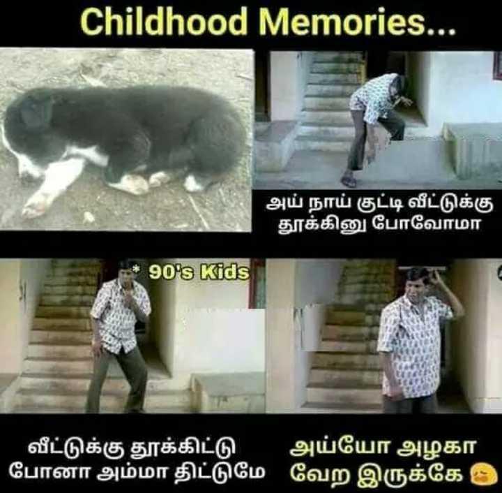 😂வடிவேலு - Childhood Memories . . . அய் நாய் குட்டி வீட்டுக்கு தூக்கினு போவோமா * 90 ' s Kids வீட்டுக்கு தூக்கிட்டு அய்யோ அழகா போனா அம்மா திட்டுமே வேற இருக்கே - ShareChat