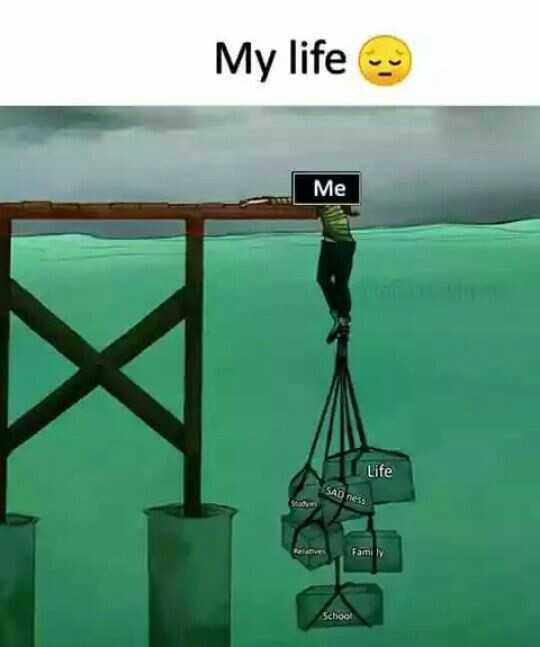 வாழ்க்கை 🌿🌿🌿 - My life Me Life SAD ness Relatives Family School - ShareChat