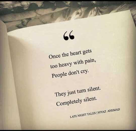 வாழ்க்கை 🌿🌿🌿 - 66 Once the heart gets too heavy with pain , People don ' t cry . They just turn silent . Completely silent LATE NIGHT TALES NIYAZ AHEMAD - ShareChat