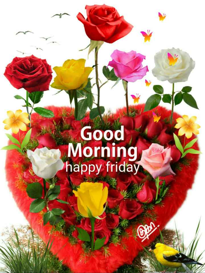 💐வாழ்த்து - Good Morning happy friday - ShareChat
