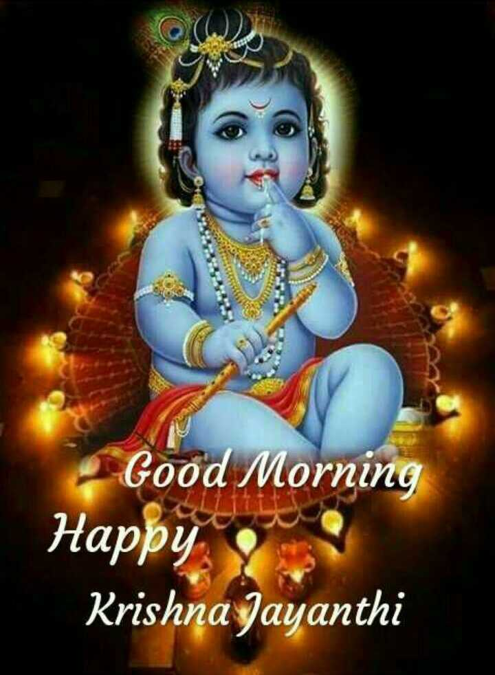 🌷 வாழ்த்து - Good Morning Happy o Krishna Jayanthi - ShareChat