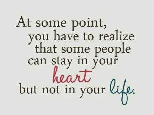 🌷 வாழ்த்து - At some point , you have to realize that some people can stay in your heart but not in your life . - ShareChat