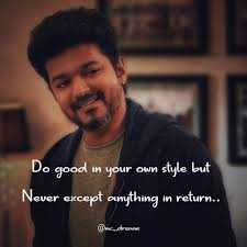 🤵விஜய் - Do good in your own style but Never except anything in return . . @ ccre - ShareChat