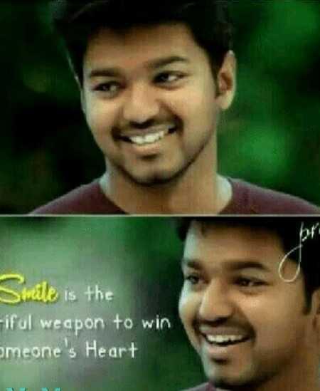 🤵விஜய் - Smile is the - iful weapon to win omeone ' s Heart - ShareChat