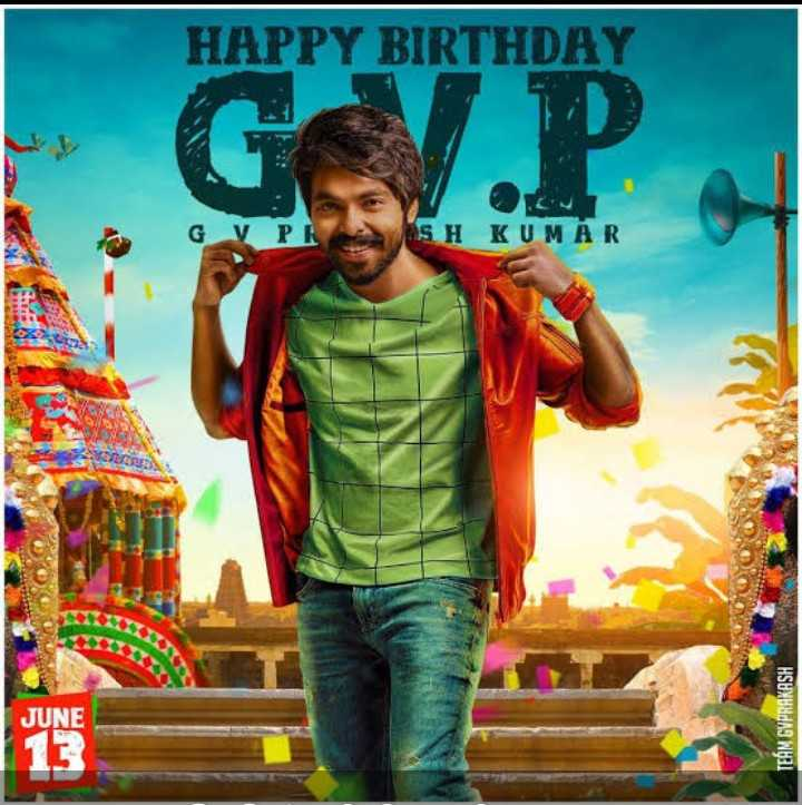 🤵விஜய் - HAPPY BIRTHDAY GV PR SH KUMAR ANDRIUS JUNE TEAM GVPRAKASH - ShareChat