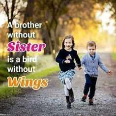 👫 అంతర్జాతీయ తోబుట్టువుల దినోత్సవం - A brother without Sister is a bird without Wings - ShareChat