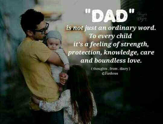 అమ్మ నాన్న లకు ప్రేమతో.... - DAD Disery is not just an ordinary word . To every child it ' s a feeling of strength , protection , knowledge , care and boundless love . ( thoughts , from . diary ) Firdous - ShareChat