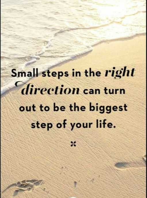 😏ఆటిట్యూడ్ స్టేటస్ - Small steps in the right direction can turn out to be the biggest step of your life . - ShareChat