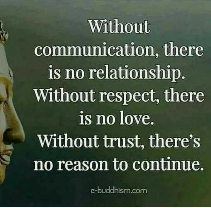 😏ఆటిట్యూడ్ స్టేటస్ - Without communication , there is no relationship . Without respect , there is no love . Without trust , there ' s no reason to continue . e - buddhism . com - ShareChat