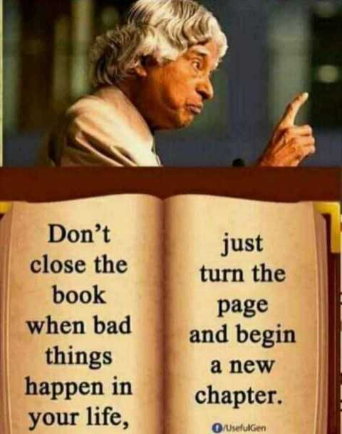 😏ఆటిట్యూడ్ స్టేటస్ - Don ' t close the book when bad things happen in your life , just turn the page and begin a new chapter . Usefulgen - ShareChat