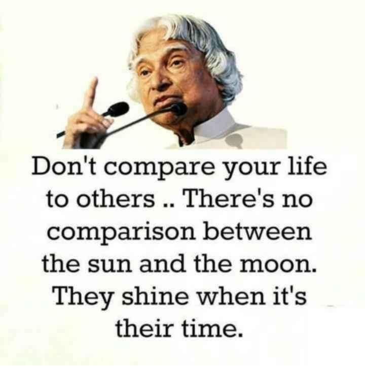 😏ఆటిట్యూడ్ స్టేటస్ - Don ' t compare your life to others . . There ' s no comparison between the sun and the moon . They shine when it ' s their time . - ShareChat