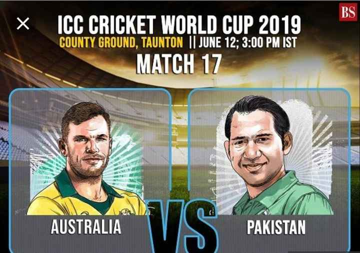 🏆ఆస్ట్రేలియా vs పాకిస్థాన్ - x ICC CRICKET WORLD CUP 2019 COUNTY GROUND , TAUNTON | | JUNE 12 ; 3 : 00 PM IST MATCH 17 AUSTRALIA PAKISTAN - ShareChat