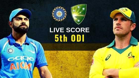 🏆⚾ఇండియా vs ఆస్ట్రేలియా ⛳ - LIVE SCORE 5th ODI OCCO AlC - ShareChat
