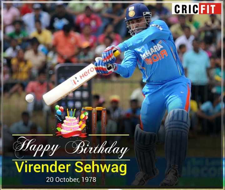🏏ఇండియా vs సౌత్ ఆఫ్రికా - CRICFIT HARA A D Hero Micromax cromax Happy Birthday Virender Sehwag 20 October , 1978 - ShareChat