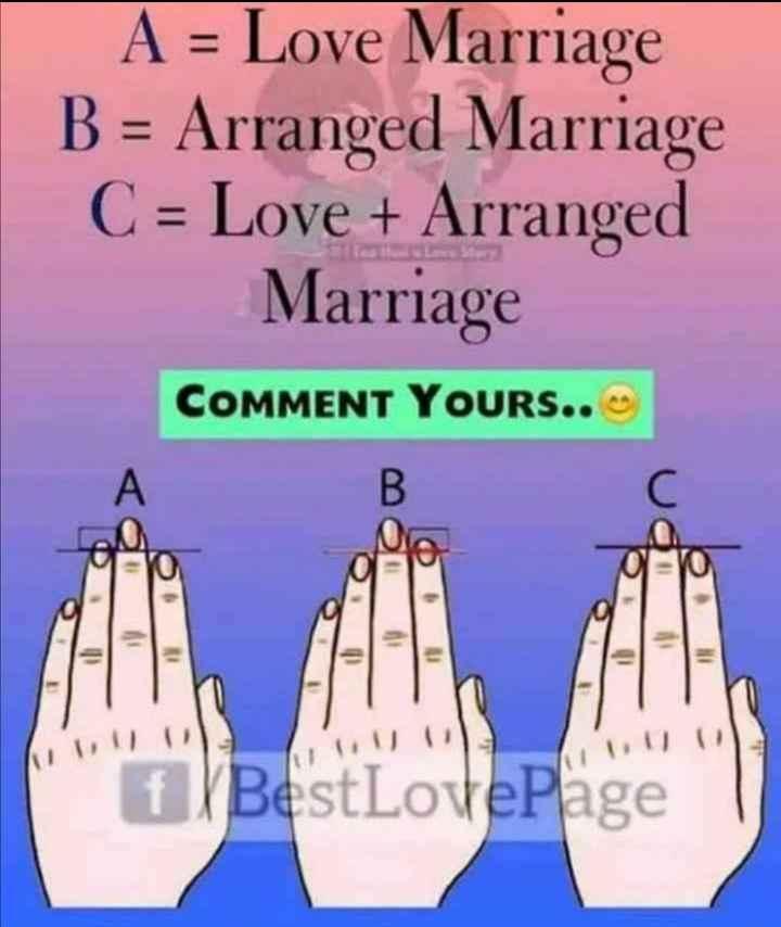 🤪ఇదేం ఫ్యాషన్ అండి బాబు!! - A = Love Marriage B = Arranged Marriage C = Love + Arranged Marriage COMMENT YOURS . . BestLovePage - ShareChat