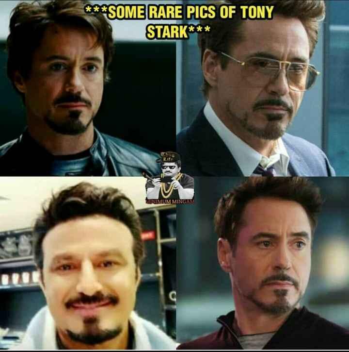🤪ఇదేం ఫ్యాషన్ అండి బాబు!! - * * * SOME RARE PICS OF TONY STARK * * * WONIMUM MINGAM - ShareChat