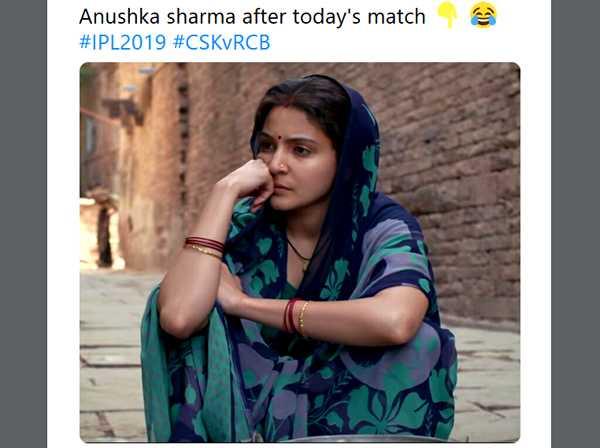 ఐపీయల్ జోక్స్ - Anushka sharma after today ' s match # IPL2019 # CSKVRCB - ShareChat