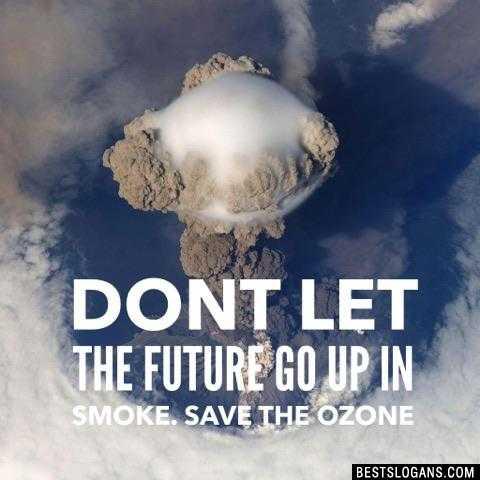 🌍ఓజోన్ పోర - DONT LET THE FUTURE GO UP IN SMOKE . SAVE THE OZONE BESTSLOGANS . COM - ShareChat