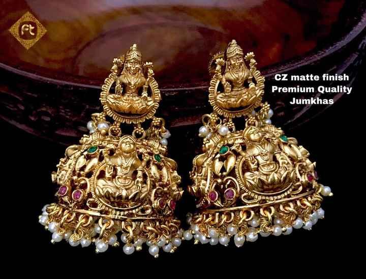 💍కమ్మలు/జుంకీలు - EURO 13 CZ matte finish Premium Quality Jumkhas Tuta Nas j 111111 - ShareChat