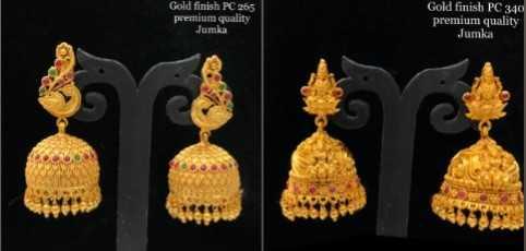 💍కమ్మలు/జుంకీలు - Gold finish PC 265 premium quality Gold finish PC 340 premium quality Jumka - ShareChat