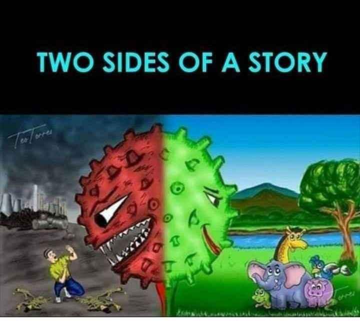 📢కరోనా ALERT - TWO SIDES OF A STORY www . - ShareChat