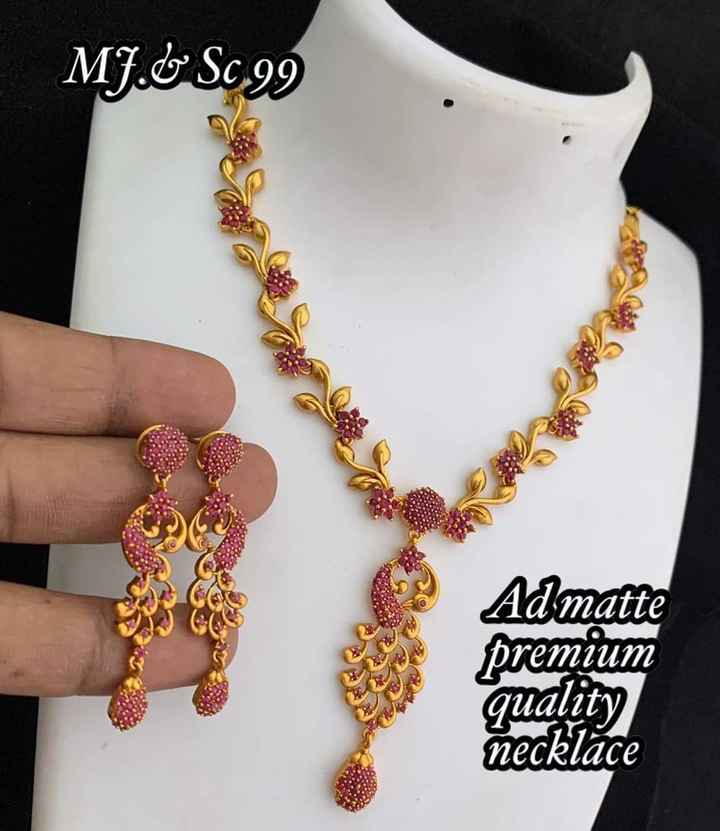 కుందన్ డిజైన్స్ - MJ . GSC 99 Admatte premium quality necklace - ShareChat
