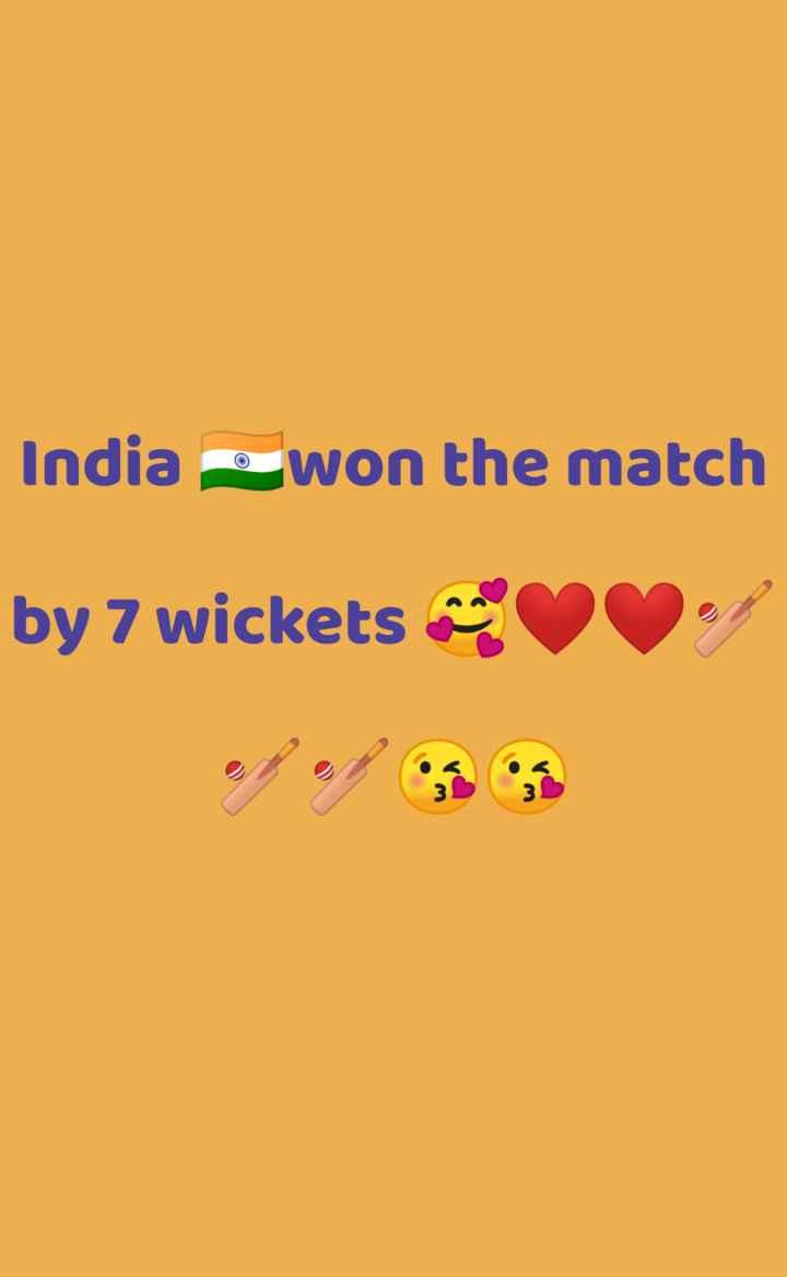 🏏క్రికెట్ - India 2 won the match by 7 wickets - - ShareChat