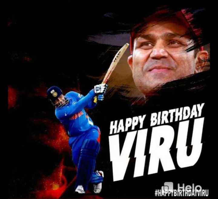 🏏క్రికెట్ - HAPPY BIRTHDAY VIRU # HAPPY BIRIBARU - ShareChat