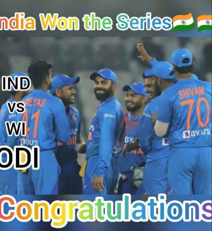 🏏క్రికెట్ - ndia Won the Series - IND VSYS SHIVAM GBYU ' S BUK BY , WI ODI Congratulations - ShareChat