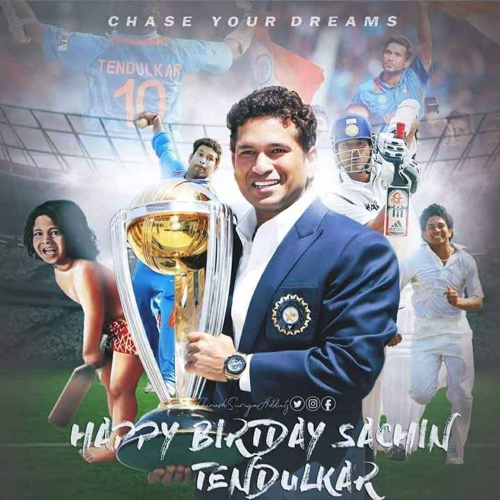 💪🏿 చెన్నై విజయం - CHASE YOUR DREAMS TENDULKAR adida Surya Mollect O HAPPY BIRTOÀY SACHIN TENDULKART - ShareChat