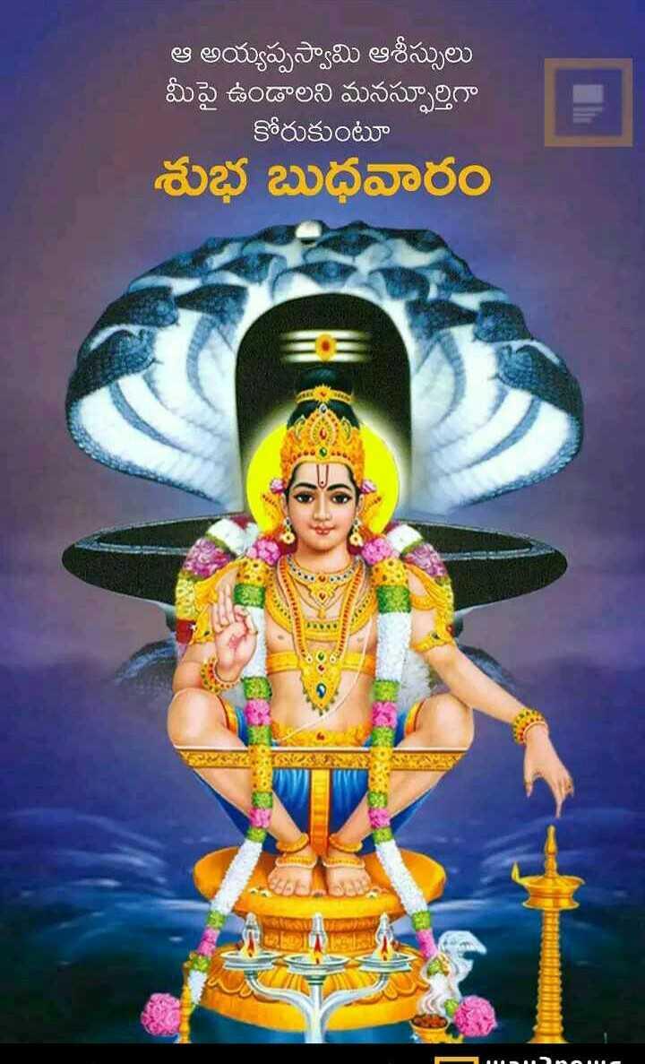 🖋జాతకం - ఆ అయ్యప్పస్వామి ఆశీస్సులు మీపై ఉండాలని మనస్ఫూర్తిగా కోరుకుంటూ శుభ బుధవారం Mana - ShareChat
