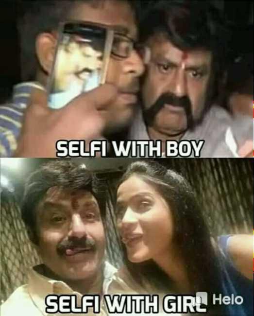 😀జోక్స్ - SELFI WITH BOY SELFI WITH GIRL - ShareChat