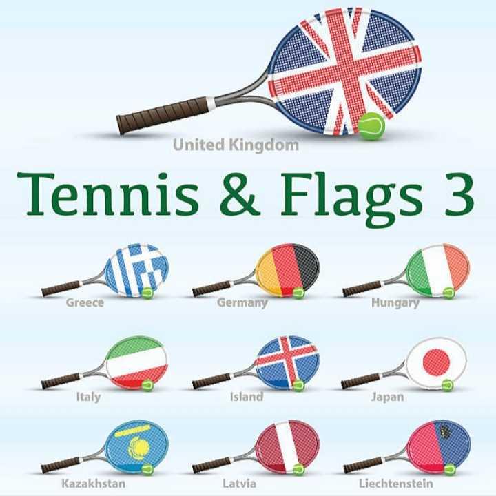 🏓టెన్నిస్ - United Kingdom Tennis & Flags 3 19 - AA Greece Germany Hungary Italy Island Japan A Kazakhstan Latvia Liechtenstein - ShareChat