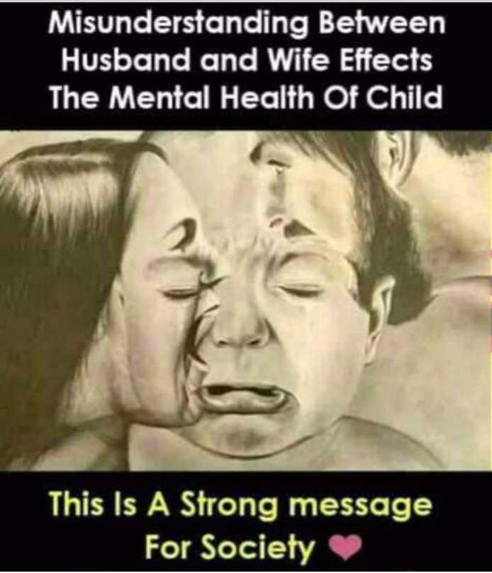 🤣ట్రాల్స్ & మీమ్స్ - Misunderstanding Between Husband and Wife Effects The Mental Health Of Child This Is A Strong message For Society - ShareChat